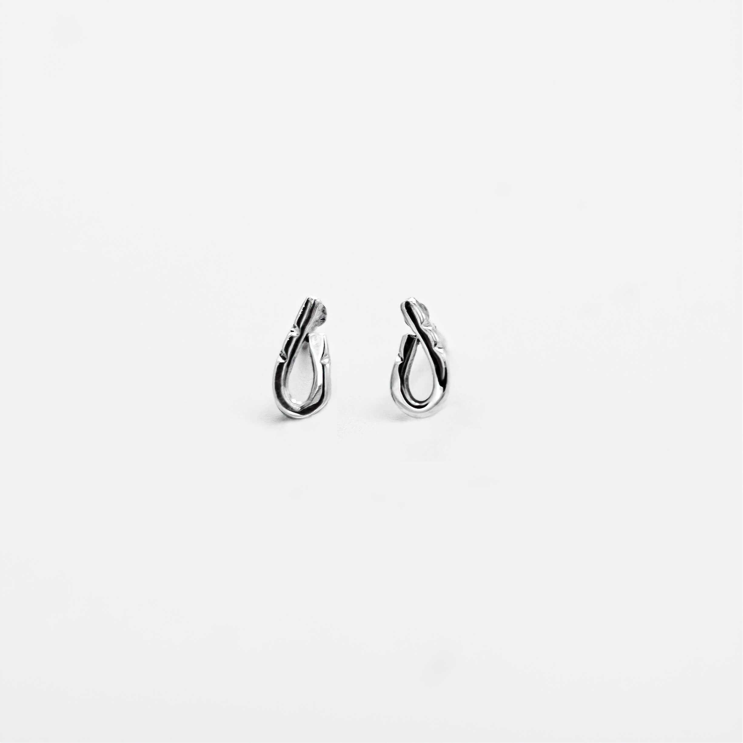 """Boucles d'oreilles argent """" La feuille creuse """""""